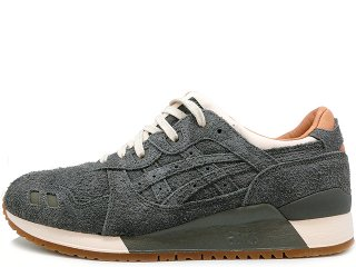 ASICS x PACKER SHOES x J.CREW  GEL LYTE III CHARCOAL SUEDE THE 1907 COLLECTION
