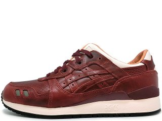 ASICS x PACKER SHOES x J.CREW  GEL LYTE III OXBLOOD LEATHER THE 1907 COLLECTION