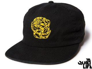 THE QUIET LIFE x NATHAN BELL SNAKEPIT 6 PANEL POLO HAT BLACK