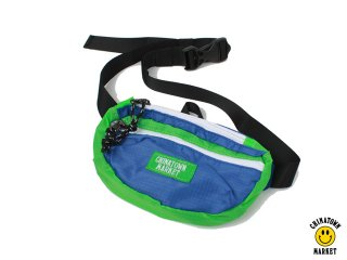 CHINATOWN MARKET RIPSTOP PACKABLE SLING PACK BLUE/GREEN<BR>チャイナタウンマーケット リップストック パッカブル スリング パック