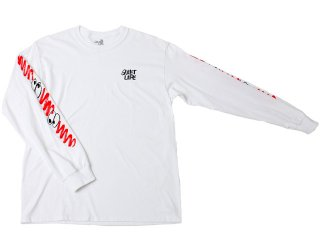 【ARTIST CAPSULE COLLECTION】THE QUIET LIFE x JAMES JARVIS JARVIS LONG SLEEVE TEE WHITE