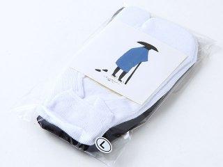 TABIBITO 足袋フットカバー ソックス 2Pセット BLACK/WHITE 日本製