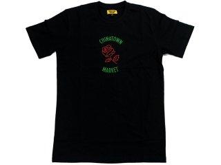 CHINATOWN MARKET ROSE TEE BLACK<BR>チャイナタウンマーケット ローズ ティー ブラック