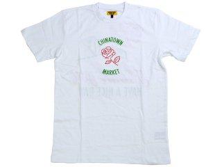 CHINATOWN MARKET ROSE TEE WHITE<BR>チャイナタウンマーケット ローズ ティー ホワイト