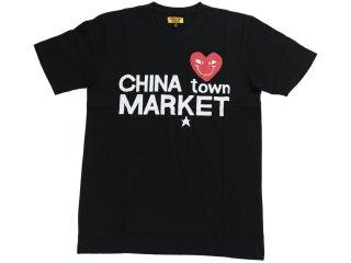 CHINATOWN MARKET COMME DE CHINATOWN TEE BLACK<BR>チャイナタウンマーケット コムデチャイナタウン ティー ブラック