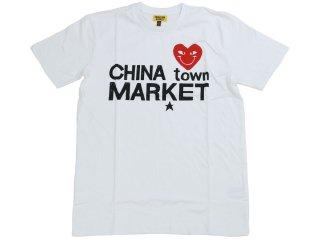 CHINATOWN MARKET COMME DE CHINATOWN TEE WHITE<BR>チャイナタウンマーケット コムデチャイナタウン ティー ホワイト