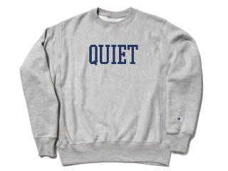 THE QUIET LIFE CHAMPION REVERSE WEAVE CREW HEATHER GREY