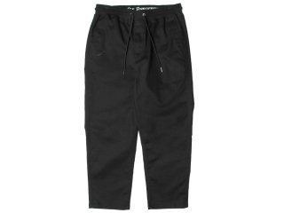 PUBLISH BRAND CASPIAN STRETCH COTTON TWILL RELAX ANKLE PANTS BLACK
