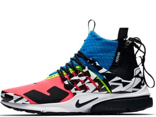 NIKE x ACRONYM AIR PRESTO MID RACER PINK/BLACK/PHOTO BLUE<BR>ナイキ アクロニウム エアプレストミッド