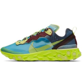 NIKE x UNDERCOVER REACT ELEMENT 87 LAKESIDE/ELECTRIC YELLOWD<BR>ナイキ アンダーカバー リアクト エレメント