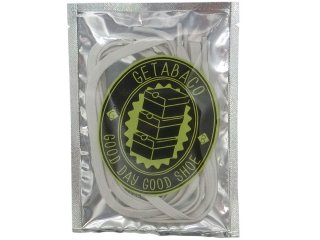 【メール便対応】GETABACO FLAT LACES GLOW IN THE DARK<BR>ゲタバコ フラットレース グローインザダーク