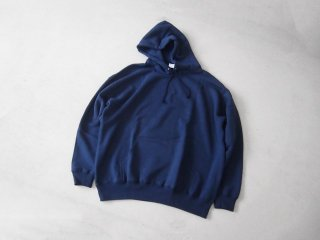YUAN SIGNATURE COTTON HOODIE 10oz NAVY
