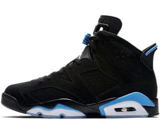 NIKE AIR JORDAN 6 RETRO UNC BLACK/UNIVERSITY BLUE<BR>ナイキ  エアジョーダン 6 レトロ ブラック ユニバーシティブルー