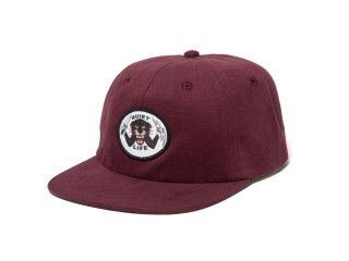 【2018 FALL/WINTER COLLECTION】THE QUIET LIFE x BEN VENOM VENOM PANTHER POLO HAT MAROON