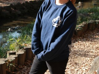 CHAIN REACTION CAPSULE COLLECTION SWEAT SHIRTS NAVY/WHITE
