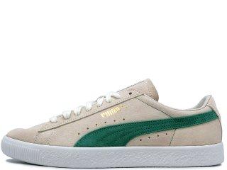 PUMA SUEDE 90681 WHISPER WHITE/GREEN<BR>プーマ スエード ウィスパーホワイト グリーン