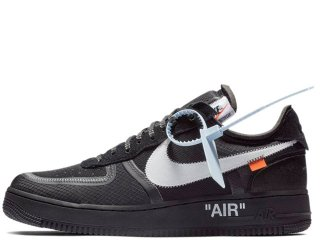 NIKE x OFF-WHITE AIR FORCE 1 LOW THE TEN 2018 BLACK<BR>ナイキ オフホワイト エア フォースワン ロー ブラック