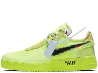 NIKE x OFF-WHITE AIR FORCE 1 LOW THE TEN 2018 VOLT<BR>ナイキ オフホワイト エア フォースワン ロー ヴォルト