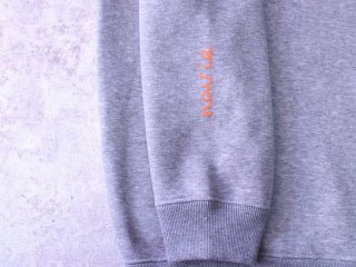 NAVIETOKYO LIQUID CREW HEATHER GREY ORANGE