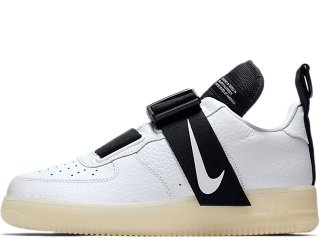 NIKE AIR FORCE 1 UTILITY QS WHITE/BLACK