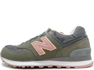 NEW BALANCE WL574NLD STEEL/CHARM/SHELL PINK<BR>ニューバランス