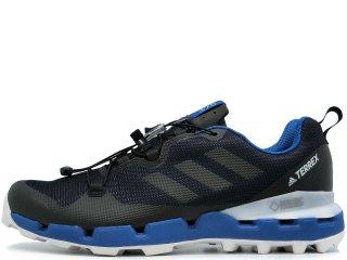 ADIDAS TERREX FAST GTX SURROUND BLACK/BLUE<BR>アディダス テレックス ファスト ゴアテックス ブラック ブルー