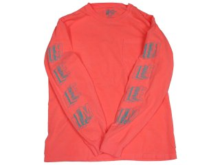 H33M ASSEMBLY POCKET LONG SLEEVE NEON RED<BR>ヒーム アセンブリ ポケット ロングスリーブ ネオンレッド