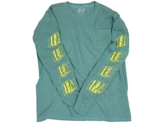 H33M ASSEMBLY POCKET LONG SLEEVE LIGHT GREEN<BR>ヒーム アセンブリ ポケット ロングスリーブ ライトグリーン