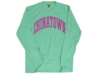 CHINATOWN MARKET ARC LONG SLEEVE TEE GEEN<BR>チャイナタウンマーケット アーク ロングスリーブティー グリーン