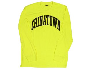 CHINATOWN MARKET ARC LONG SLEEVE TEE YELLOW<BR>チャイナタウンマーケット アーク ロングスリーブティー イエロー