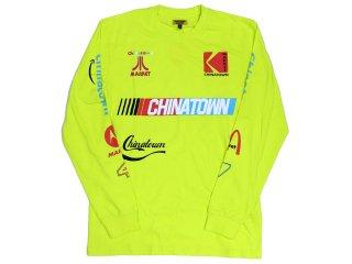 CHINATOWN MARKET NASCAR LONG SLEEVE TEE NEON<BR>チャイナタウンマーケット ナスカー ロングスリーブティー ネオン