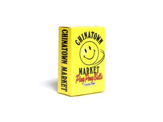 CHINATOWN MARKET PING PONG BALL SMILEY YELLOW<BR>チャイナタウンマーケット ピンポン スマイリー ボール 卓球 イエロー
