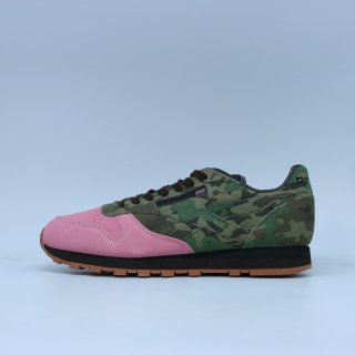 REEBOK x SHOE GALLERY CL CLASSIC LEATHER  CAMO/PINK<BR>リーボック シューギャラリー クラシックレザー カモ ピンク