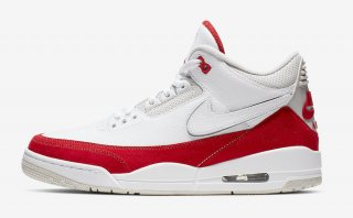 NIKE AIR JORDAN 3 TINKER WHITE/UNIVERSITY RED-NEUTRAL GREY<BR> ナイキ  エアジョーダン 3 レトロ ティンカー