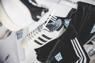 ADIDAS x HAVE A GOOD TIME SUPER STAR 80S HAGT WHITE/BLACK<BR>アディダス スーパースター ハブ ア グット タイム