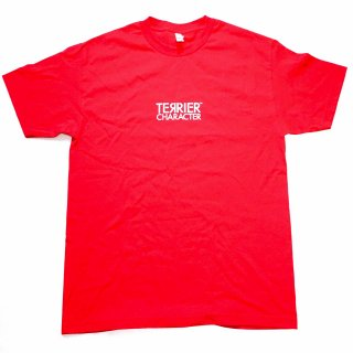 TERRIER CHARACTER LOGO TEE RED WHITE