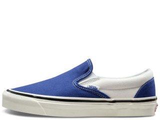 VANS CLASSIC SLIP ON 98 DX BLUE<BR>バンズ クラシック スリップオン ブルー