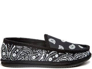 TROOPER AMERICA HOUSE SHOES PAISLEY CANVAS BLACK/WHITE<BR>トゥルーパー アメリカ ハウスシューズ ペイズリー キャンバス ブラック ホワイト