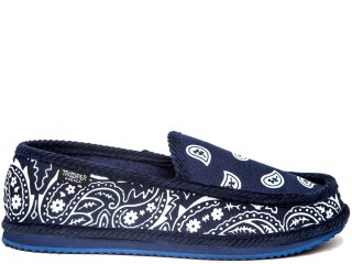 TROOPER AMERICA HOUSE SHOES PAISLEY CANVAS NAVY/WHITE<BR>トゥルーパー アメリカ ハウスシューズ ペイズリー キャンバス ネイビー ホワイト