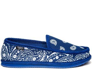 TROOPER AMERICA HOUSE SHOES PAISLEY CANVAS ROYAL/WHITE<BR>トゥルーパー アメリカ ハウスシューズ ペイズリー キャンバス ロイヤル ホワイト