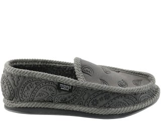 TROOPER AMERICA HOUSE SHOES PAISLEY NUBUCK GREY<BR>トゥルーパー アメリカ ハウスシューズ ペイズリー ヌバック グレー