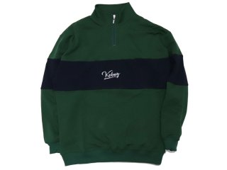 KEBOZ HALF ZIP SWEAT GREEN/NAVY