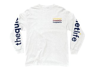 THE QUIET LIFE ORIGIN REPEAT LONG SLEEVE TEE WHITE<BR>クワイエットライフ オリジン リピート ロングスリーブ ティーシャツ ホワイト