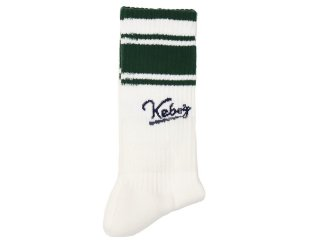 ROSTER x KEBOZ x PASSOVER LINE SOCKS LOGO MADE IN JAPAN WHITE/GREEN/NAVY