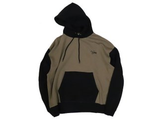 KEBOZ TWO-TONE PULLOVER BROWN/BLACK