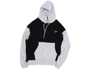 KEBOZ TWO-TONE PULLOVER BLACK/GREY