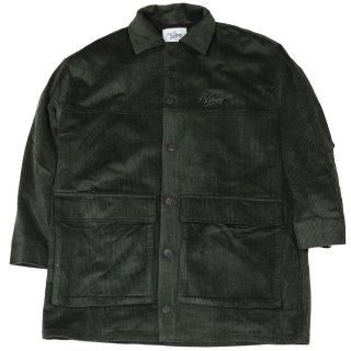 KEBOZ CORDUROY COVERALL DARK GREEN