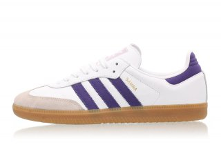 ADIDAS SAMBA OG  CLOUD CLOUD WHITE / COLLEGIATE PURPLE<BR>アディダス サンバ ホワイト/パープル