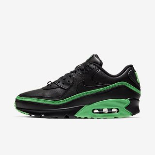 NIKE x UNDEFEATED AIR MAX 90 BLACK/GREEN SPARK<BR>ナイキxアンディフィーテッド マックス90 ブラック/グリーンスパーク