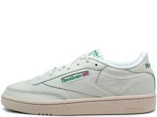 REEBOK CLUB C 85 W WHITE/GREEN<BR>リーボック クラブシー ホワイト グリーン